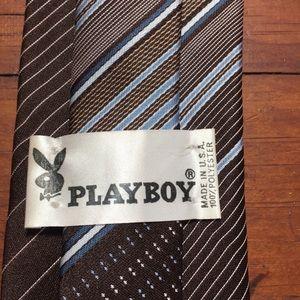 Mixed Brands Accessories - 4 Men's Vintage Ties, Playboy, Guy Laroche, Others